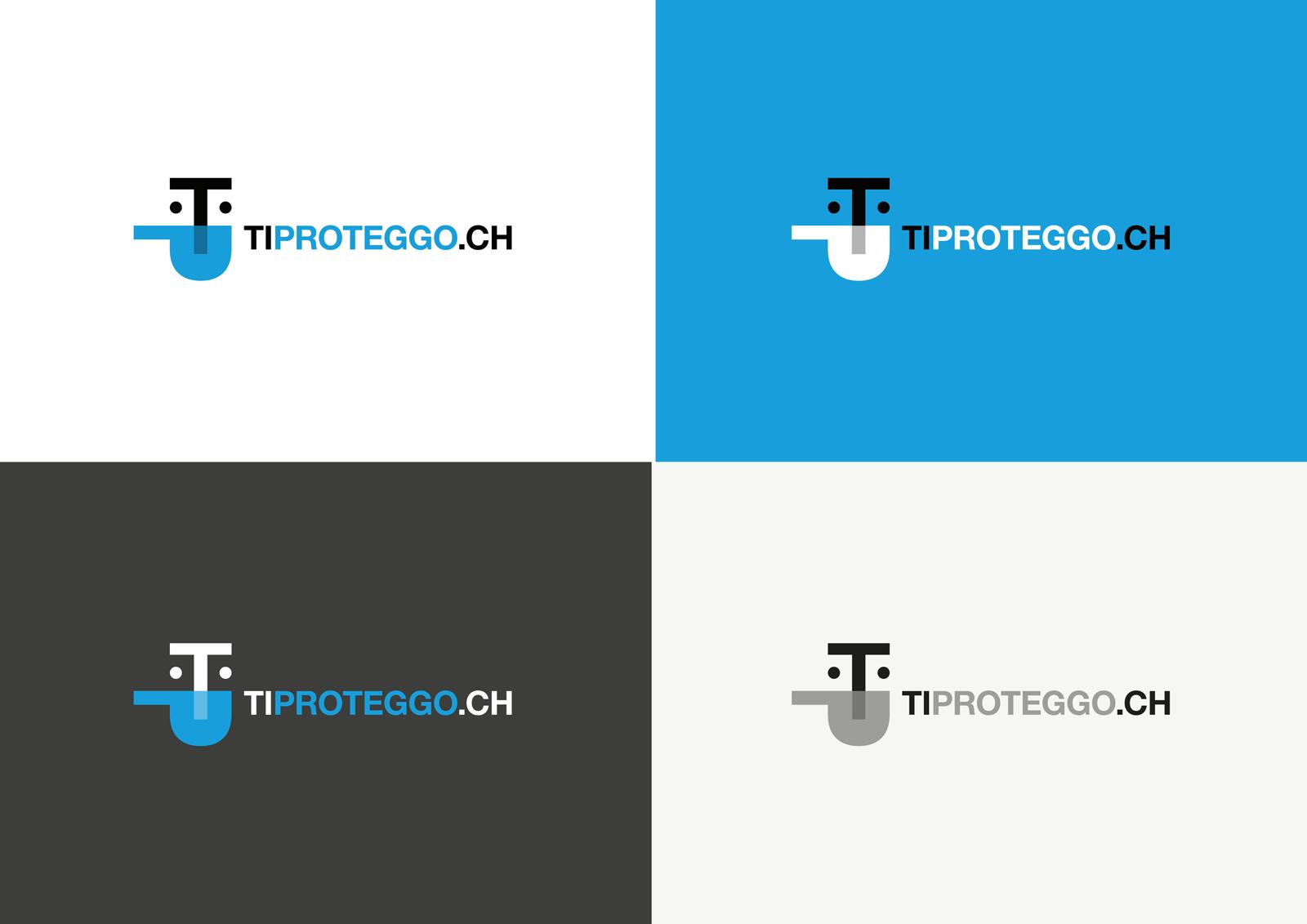 Brand identity TiProteggo - logotipo