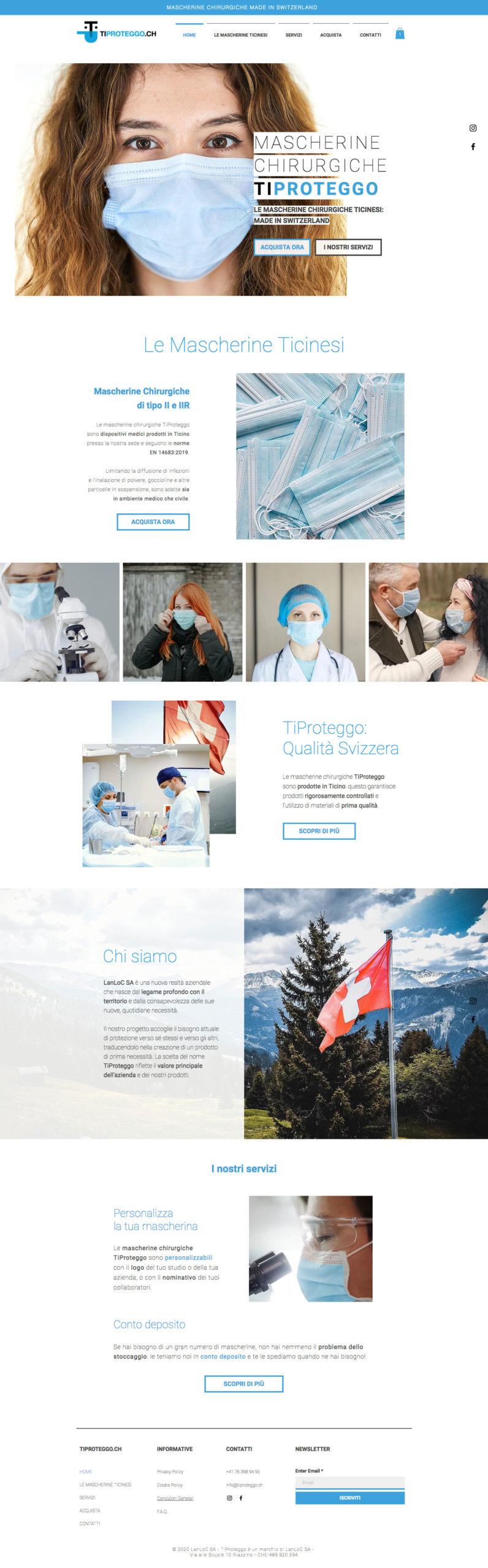 Brand identity TiProteggo - website