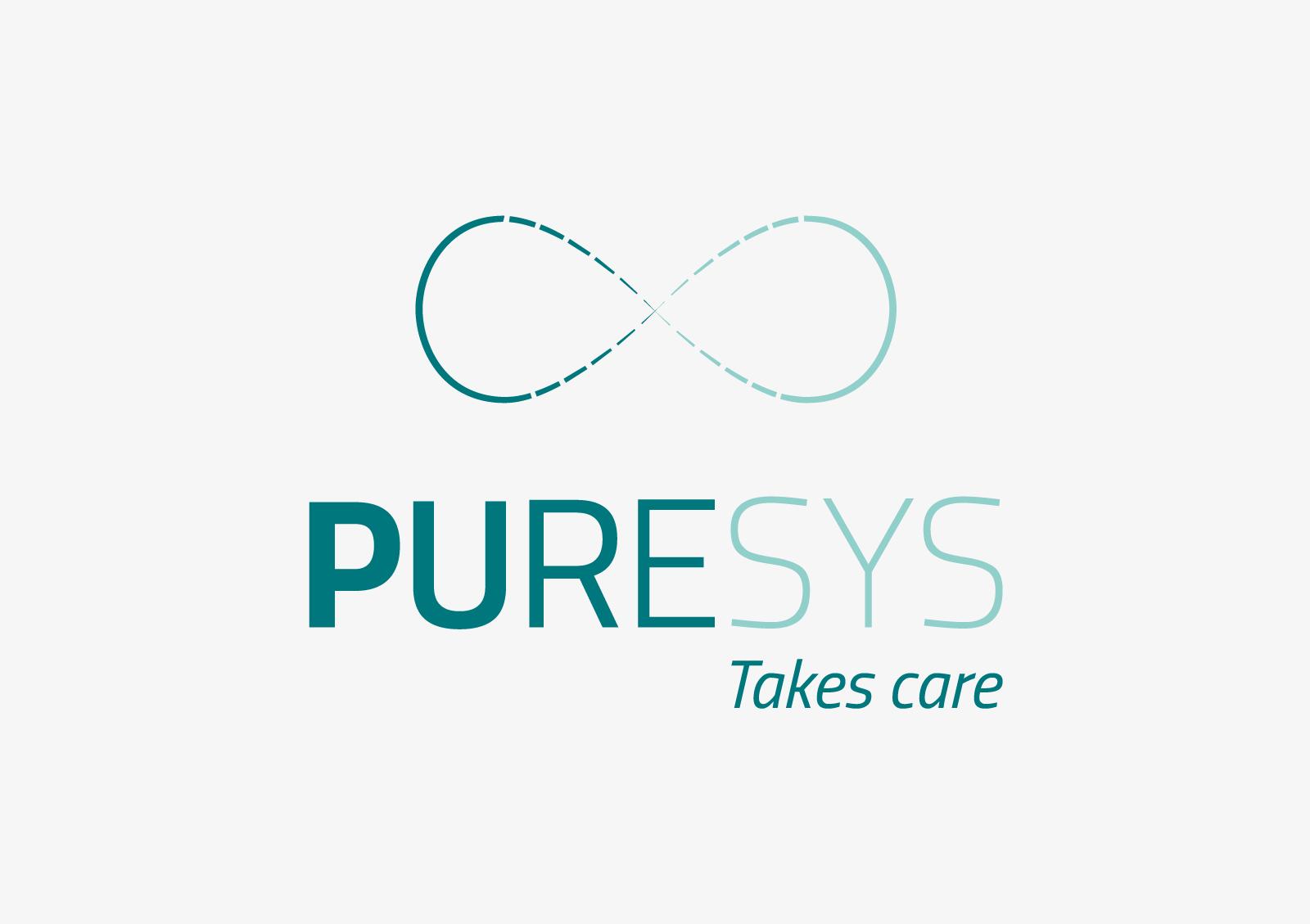 Brand identity PureSys: logotype e payoff